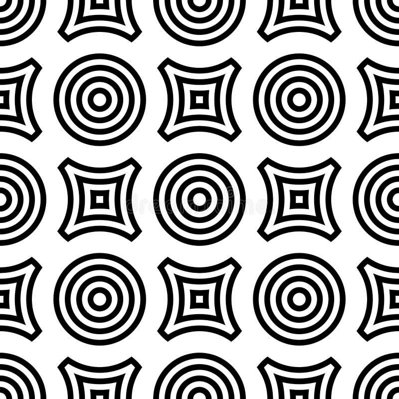 Geometrisk sömlös modell för rund form Cirklar och romb royaltyfri illustrationer