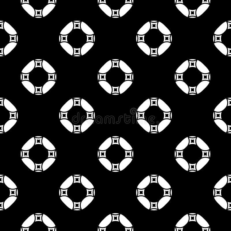 Geometrisk sömlös modell för svartvit vektor, monokrom r stock illustrationer