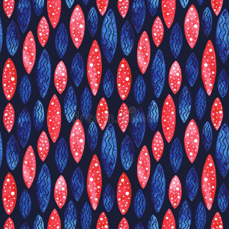 Geometrisk sömlös modell för vattenfärgvektor royaltyfri illustrationer