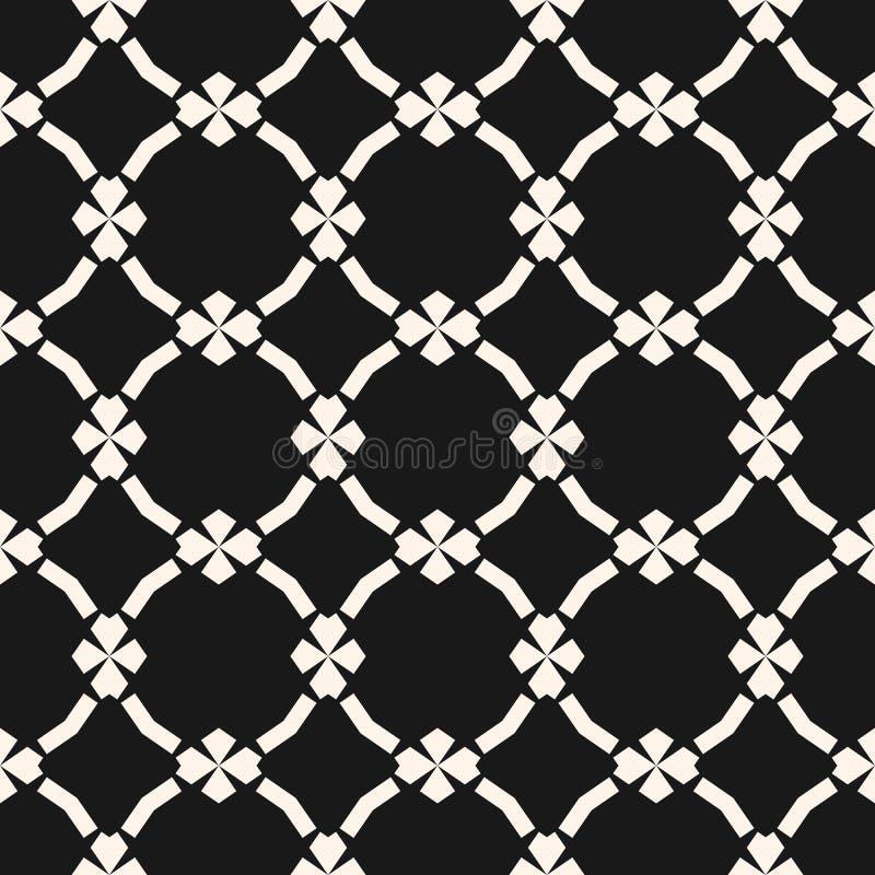 Geometrisk sömlös modell i orientalisk stil Lyxig svartvit bakgrund vektor illustrationer