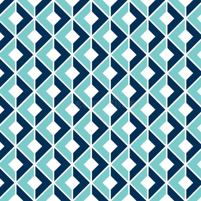 Geometrisk sömlös modell med en optisk illusion 3D stock illustrationer
