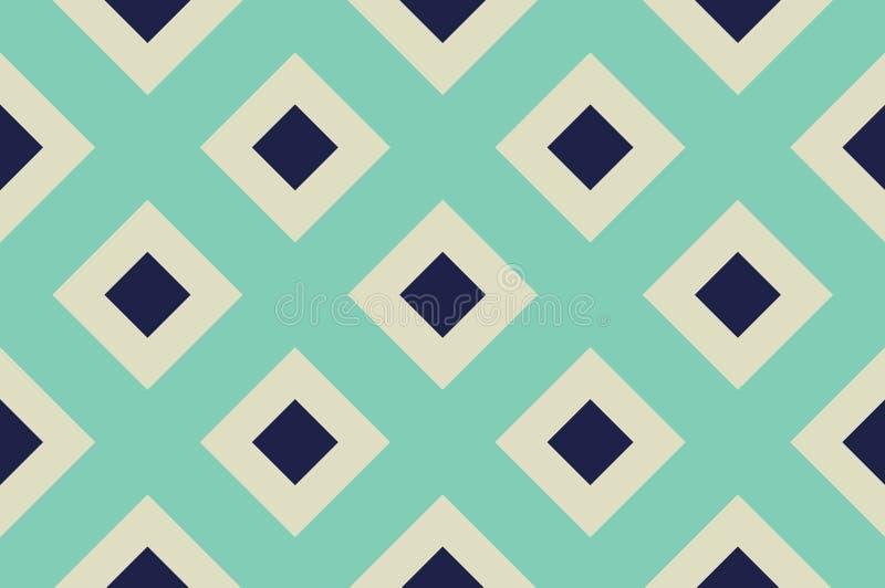 Geometrisk sömlös modell med skärande linjer, raster, celler Criss-kors bakgrund royaltyfri illustrationer
