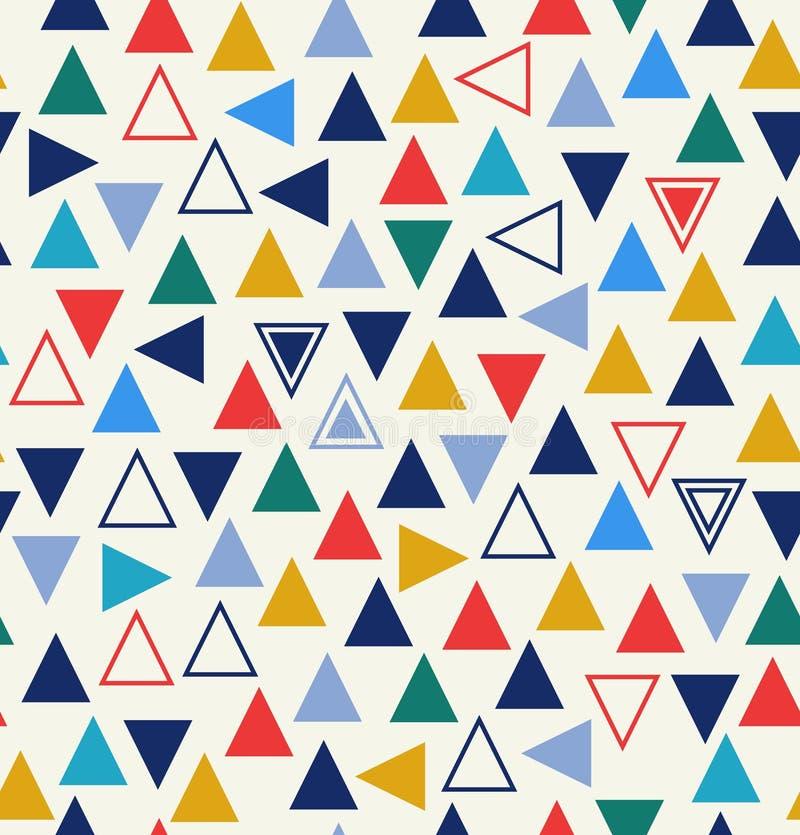 Geometrisk sömlös modell med trianglar royaltyfri illustrationer