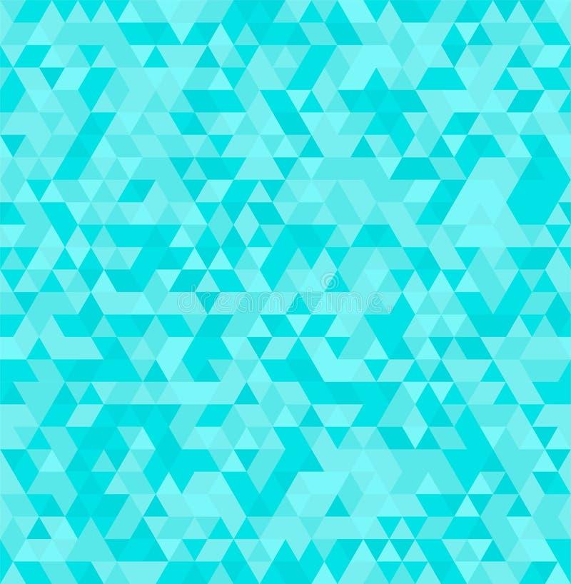 Geometrisk sömlös sommarbakgrund för abstrakt triangel royaltyfri illustrationer
