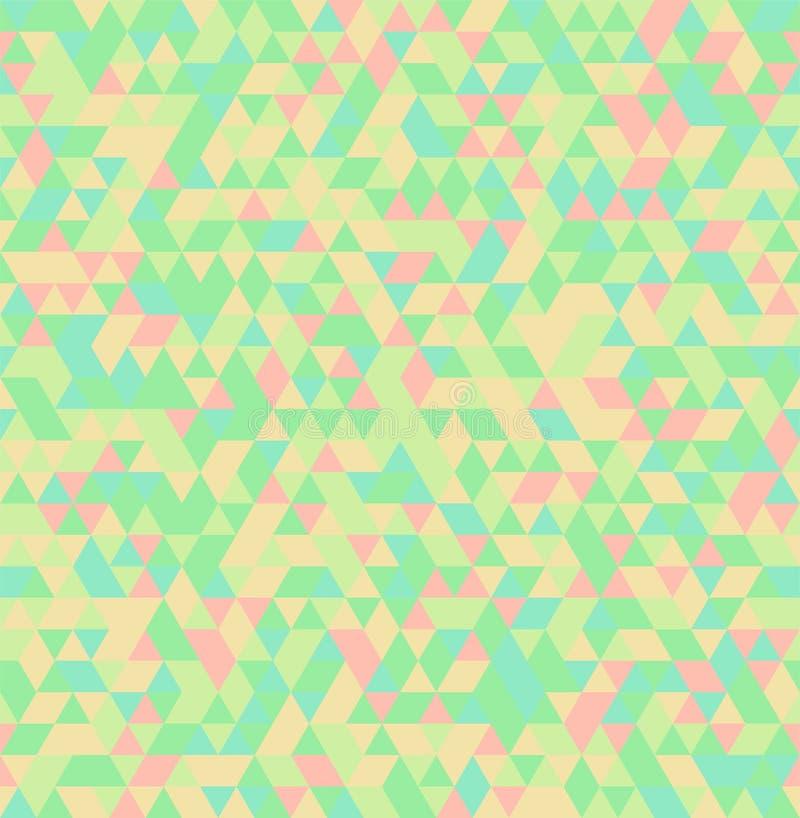 Geometrisk sömlös sommarbakgrund för abstrakt triangel stock illustrationer