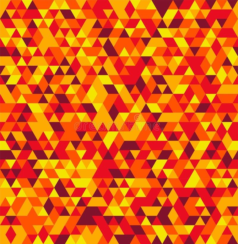 Geometrisk sömlös sommarbakgrund för abstrakt triangel vektor illustrationer