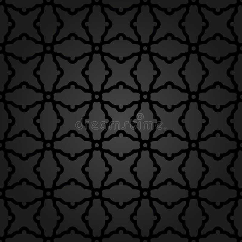 Geometrisk sömlös vektorabstrakt begreppmodell stock illustrationer