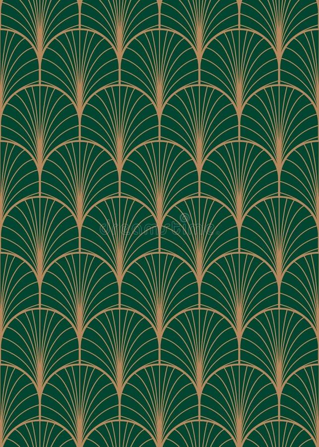Geometrisk sömlös vektormodell för art déco royaltyfri illustrationer