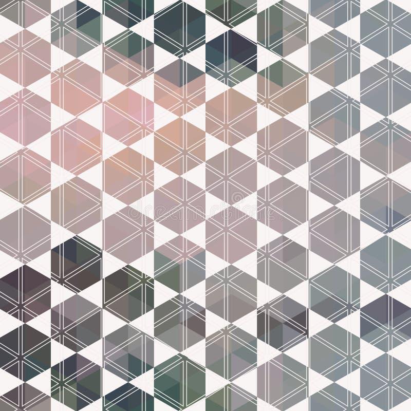 Geometrisk sexhörning för modell. med trianglar royaltyfri illustrationer