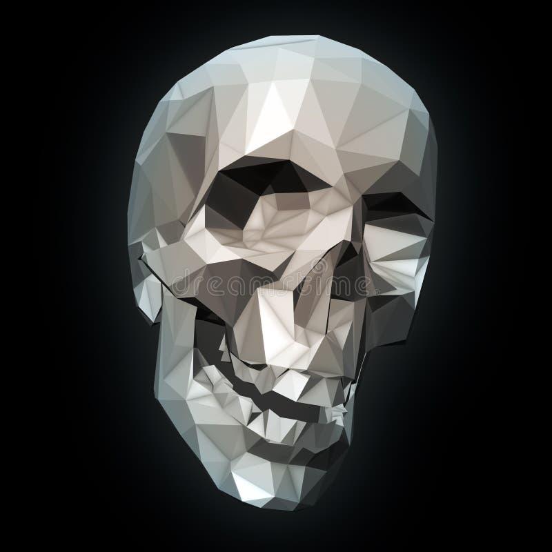 Geometrisk skalle royaltyfri illustrationer