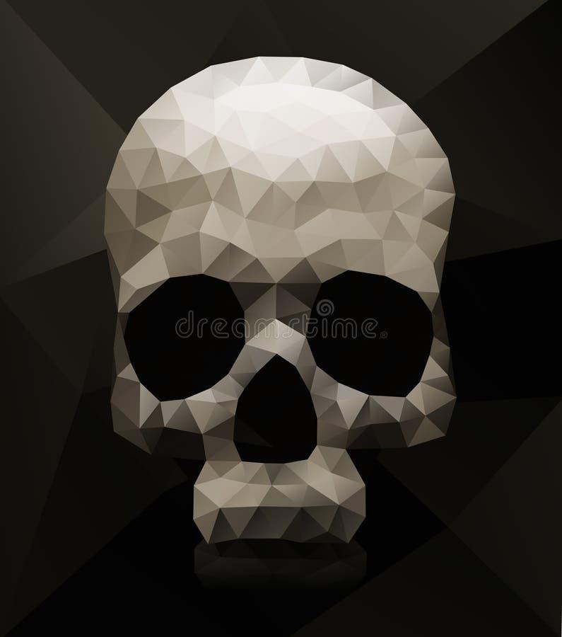 Geometrisk skalle stock illustrationer
