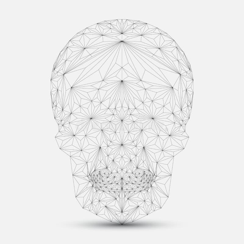 Geometrisk skalle vektor illustrationer