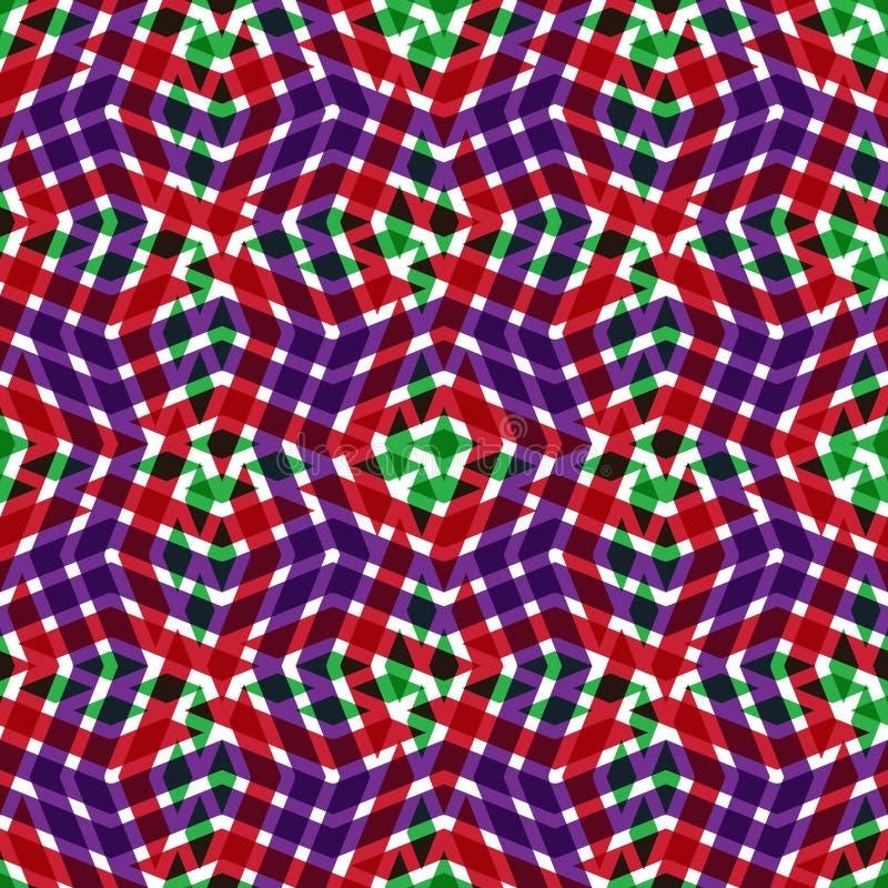 Geometrisk smutsig fodrad sömlös modell, ändlösa lodisar för ljus vektor vektor illustrationer