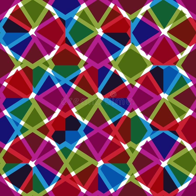 Geometrisk smutsig fodrad sömlös modell, ljus genomskinlig vektor vektor illustrationer