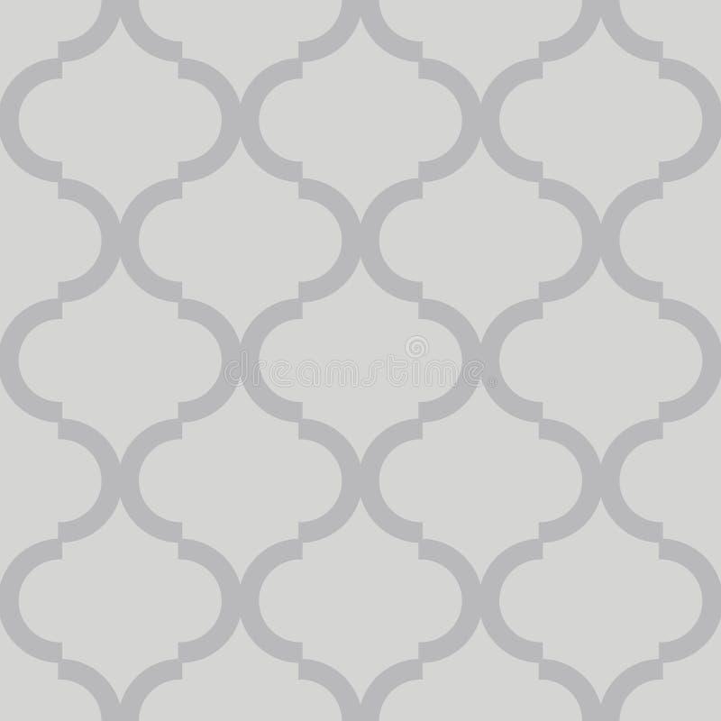 Geometrisk spalj?modell gr?tt seamless f?r bakgrund Textur för vektor för skärmtryck Website texturerad tapet vektor illustrationer