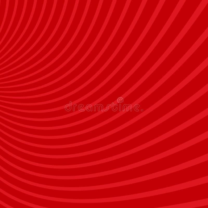 Geometrisk spiral bakgrund - den grafiska designen från att virvla runt rays vektor illustrationer