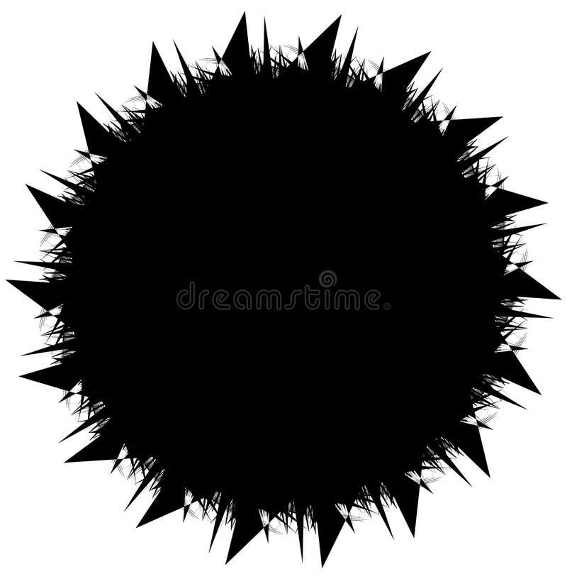 Geometrisk spiral beståndsdelserie Abstrakt virvel, piruettdiagram vektor illustrationer