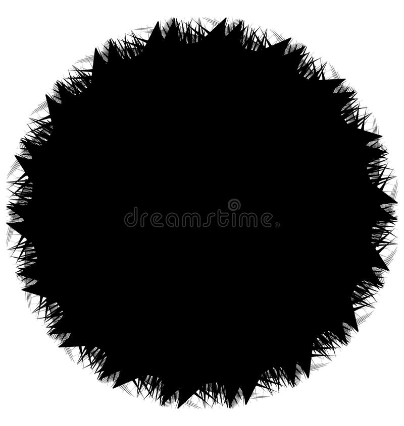 Geometrisk spiral beståndsdelserie Abstrakt virvel, piruettdiagram stock illustrationer