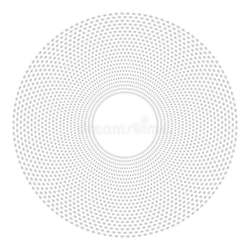 Geometrisk stjärnamodell Cirkeldesignbeståndsdel vektor illustrationer