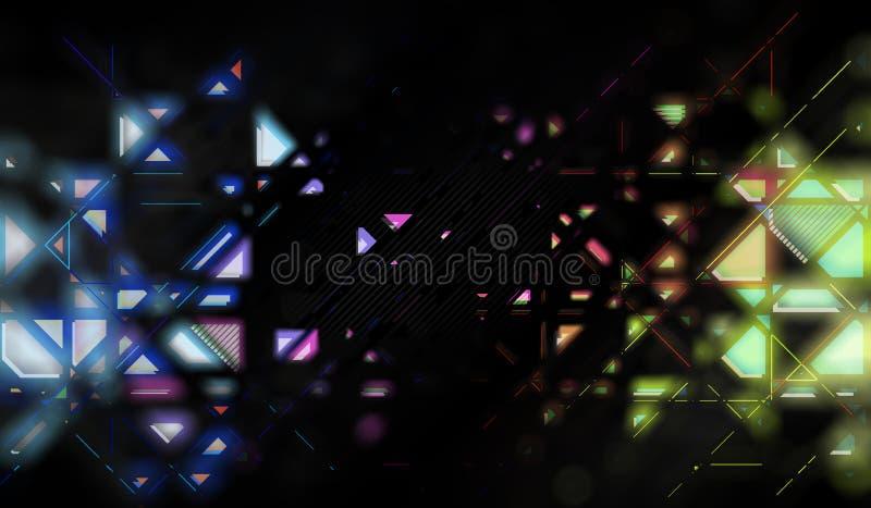 Geometrisk suddig abstraktion stock illustrationer