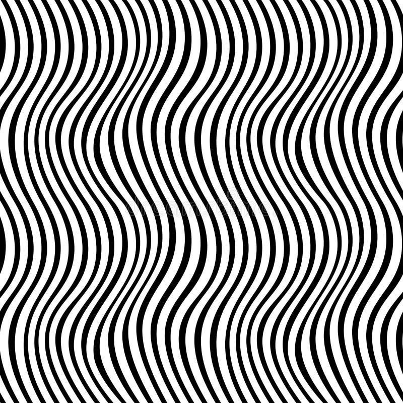 Geometrisk svartvit för tryckväv för grafisk design modell royaltyfri illustrationer