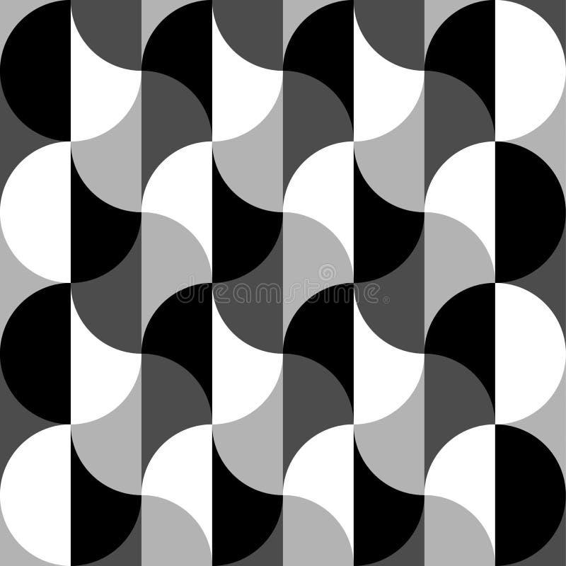 Geometrisk svartvit modell/bakgrund Sömlöst repea royaltyfri illustrationer
