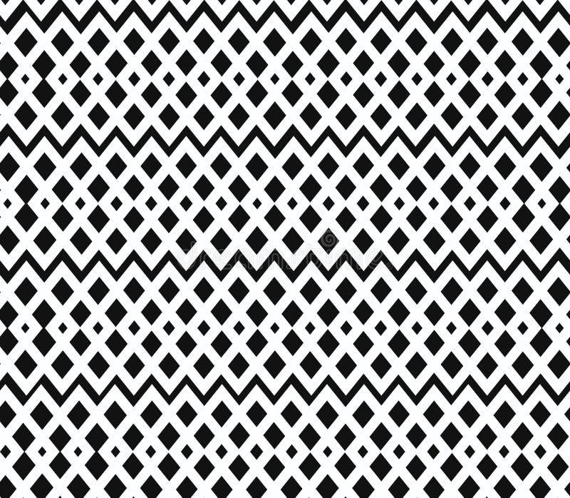 Geometrisk svartvit sömlös modell. Nettin royaltyfri illustrationer