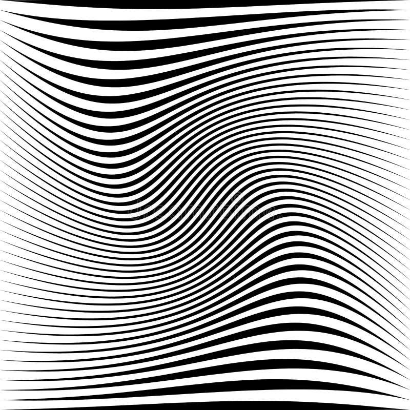 Geometrisk svartvit textur Ingrepp rastermodell av linjer royaltyfri illustrationer