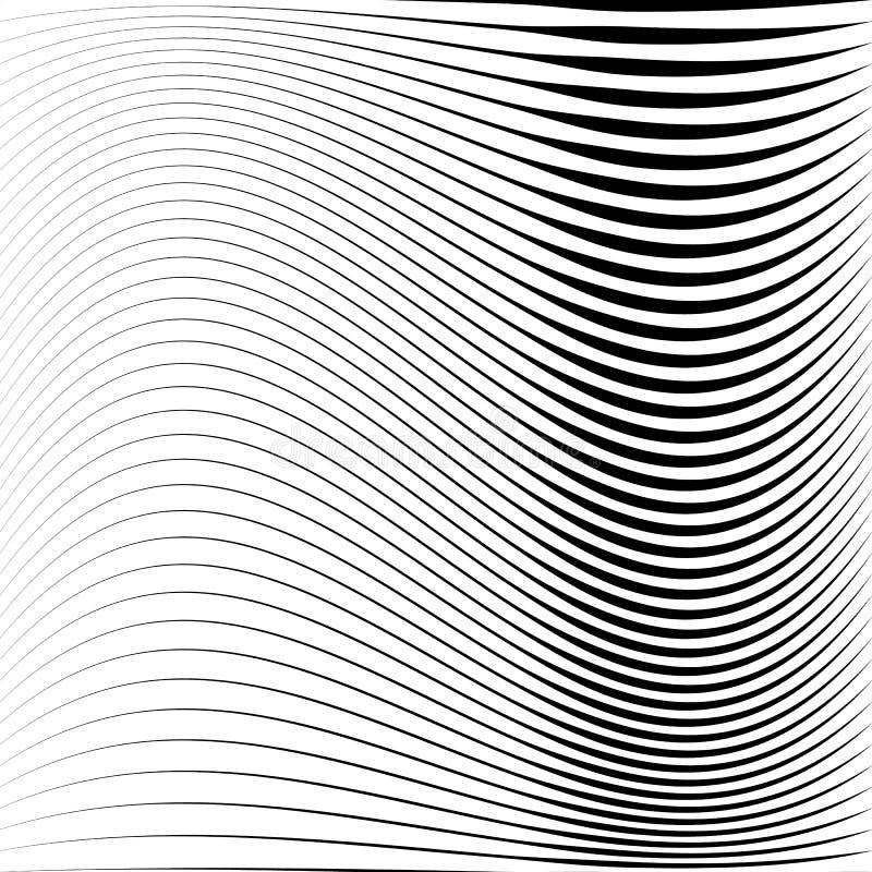 Geometrisk svartvit textur Ingrepp rastermodell av linjer stock illustrationer