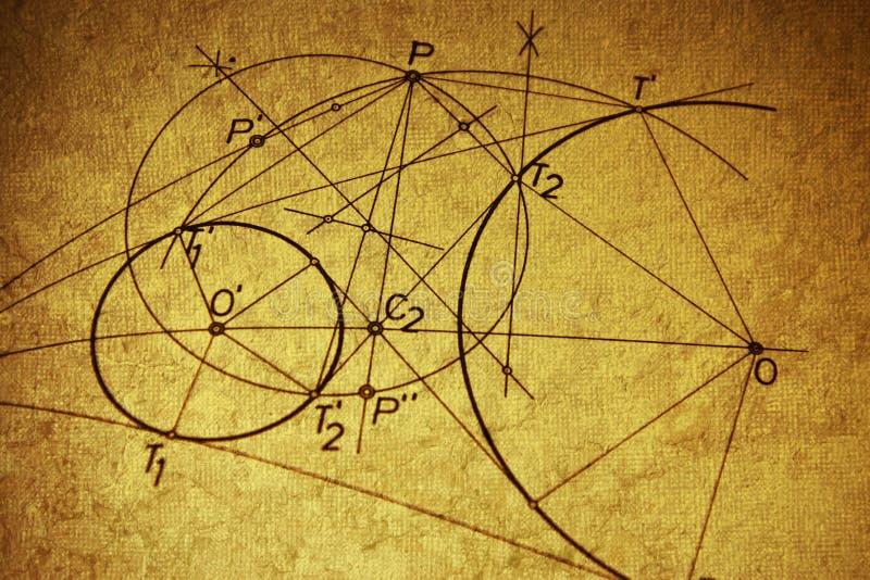 Geometrisk teckning royaltyfria bilder