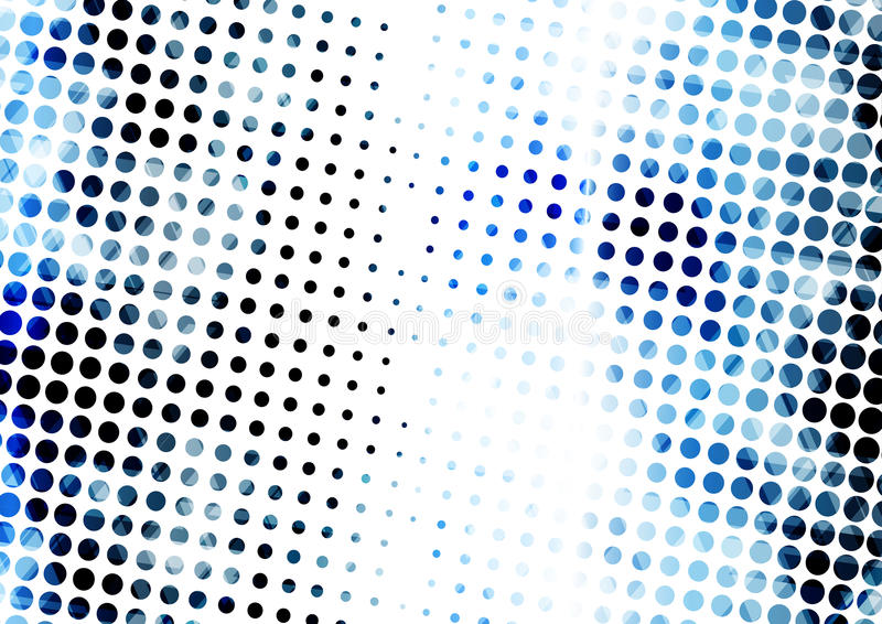 Geometrisk teknologisk digital abstrakt modern blå halvton royaltyfri illustrationer