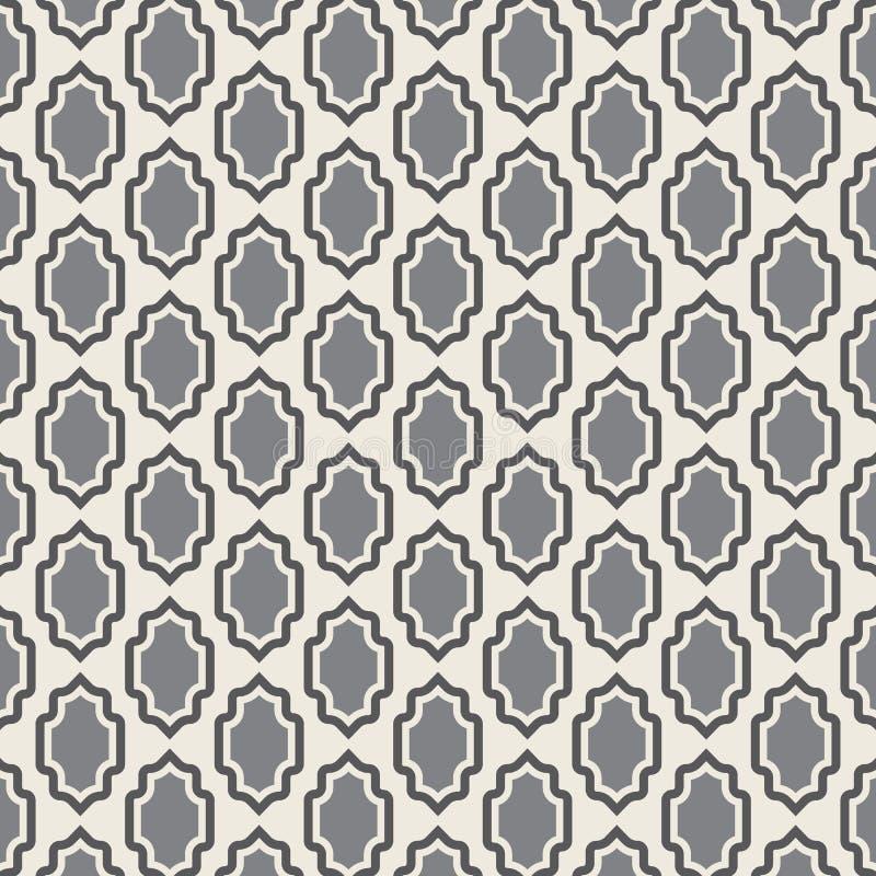 geometrisk textur för modell Sömlös vektorbakgrund med sköldbeståndsdelar royaltyfri illustrationer