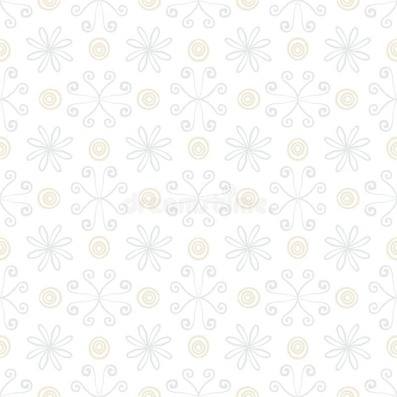 Geometrisk textur för vit tappning i art décostil vektor illustrationer