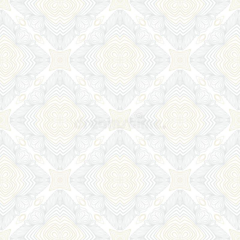 Geometrisk textur för vit tappning i art décostil stock illustrationer
