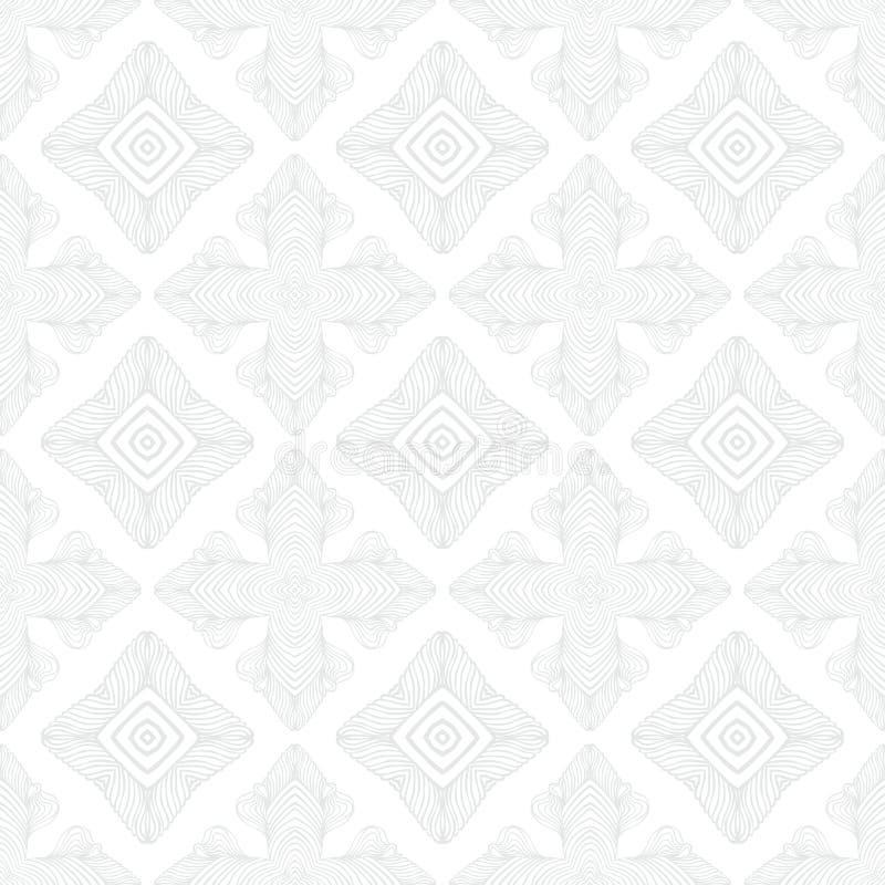 Geometrisk textur för vit tappning i art décostil royaltyfri illustrationer