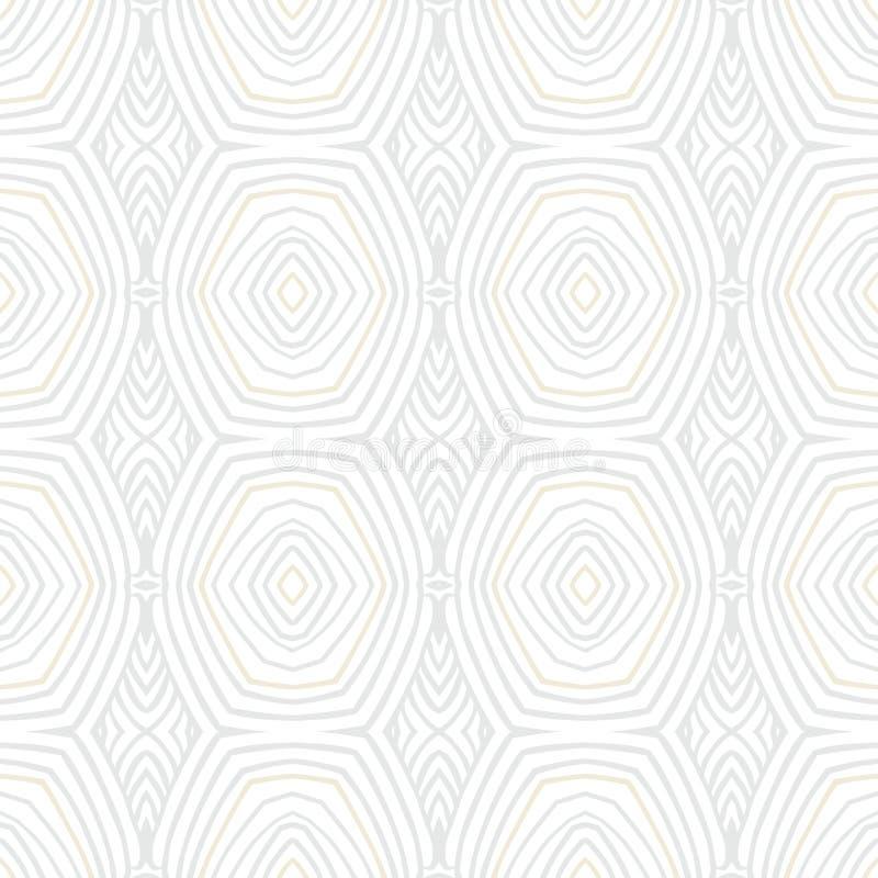 Geometrisk textur för vit tappning i 60-talstil stock illustrationer