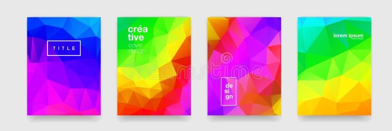 Geometrisk texturbakgrund, abstrakt färgmosaiklutning För trendmodell för vektor minsta modern bakgrund arkivbilder