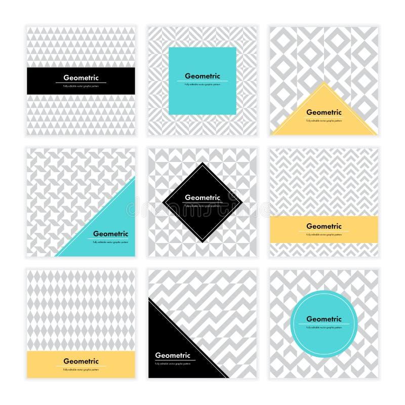 Geometrisk texturuppsättning 003 vektor illustrationer
