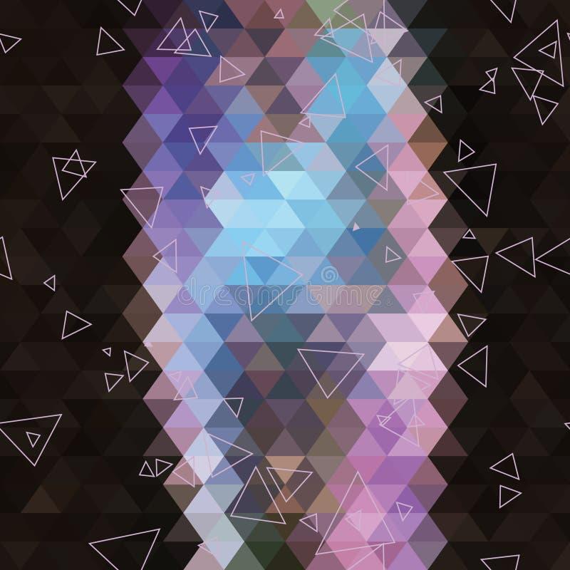 Geometrisk triangelabstrakt begreppbakgrund royaltyfri bild