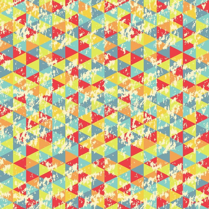 Geometrisk triangelmodell för tappning vektor illustrationer