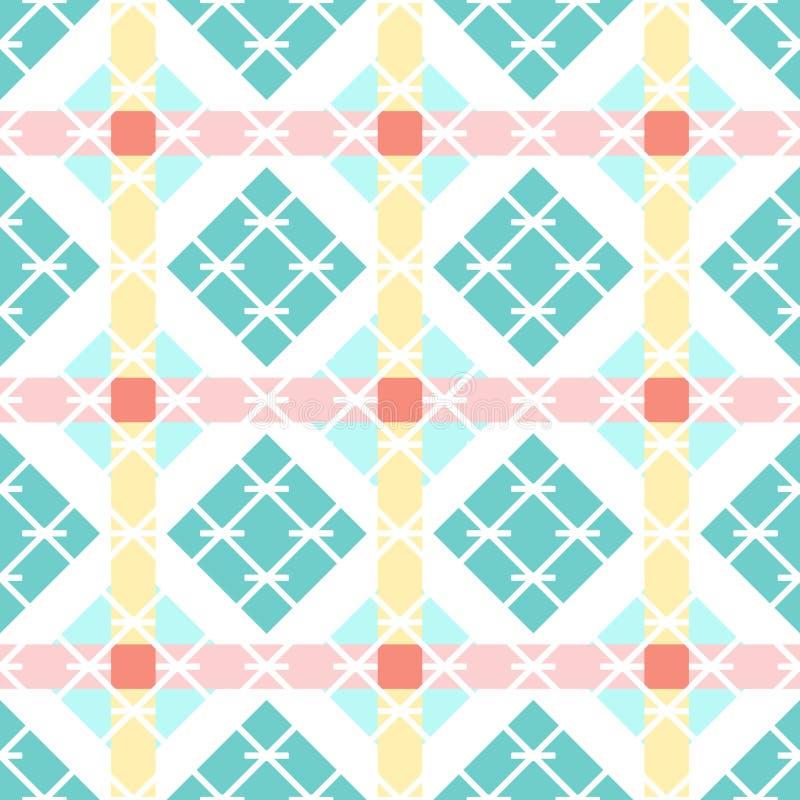 Geometrisk upprepande bakgrund för rengöringsduk eller utskrift abstrakt vektorwallpaper vektor illustrationer