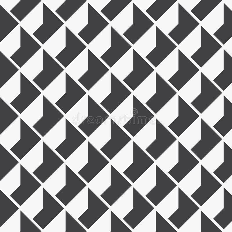Geometrisk vektormodell som upprepar textur av fyrkantig diamantform med abstrakt skugga, enkel färg med svartvitt royaltyfri illustrationer