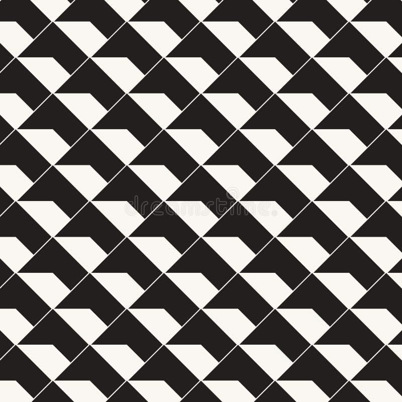Geometrisk vektormodell som upprepar textur av fyrkantig diamantform med abstrakt skugga, enkel f?rg med svartvitt royaltyfri illustrationer