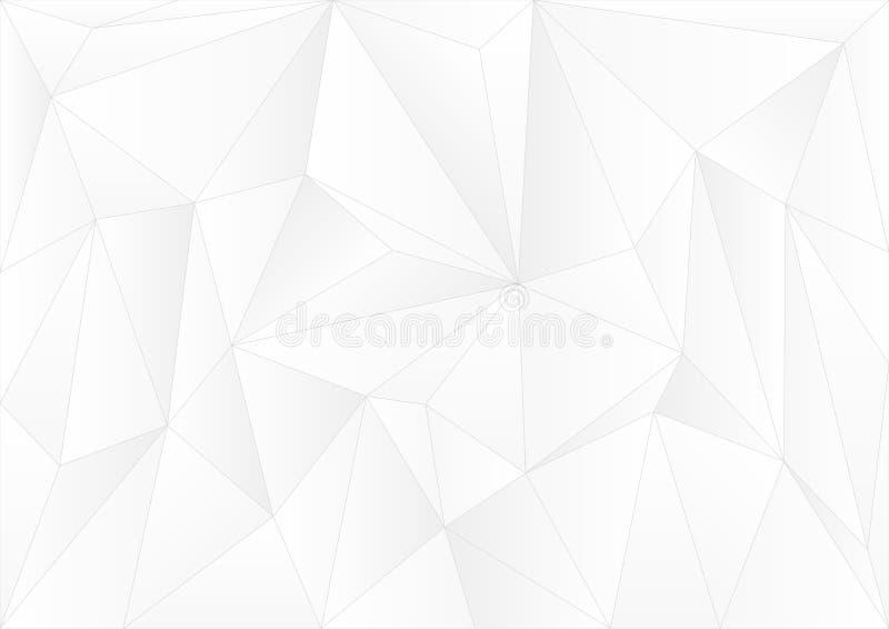 Geometrisk vit för vektordesign & abstrakt bakgrund för grå färger Gray Grid Mosaic Background royaltyfri illustrationer