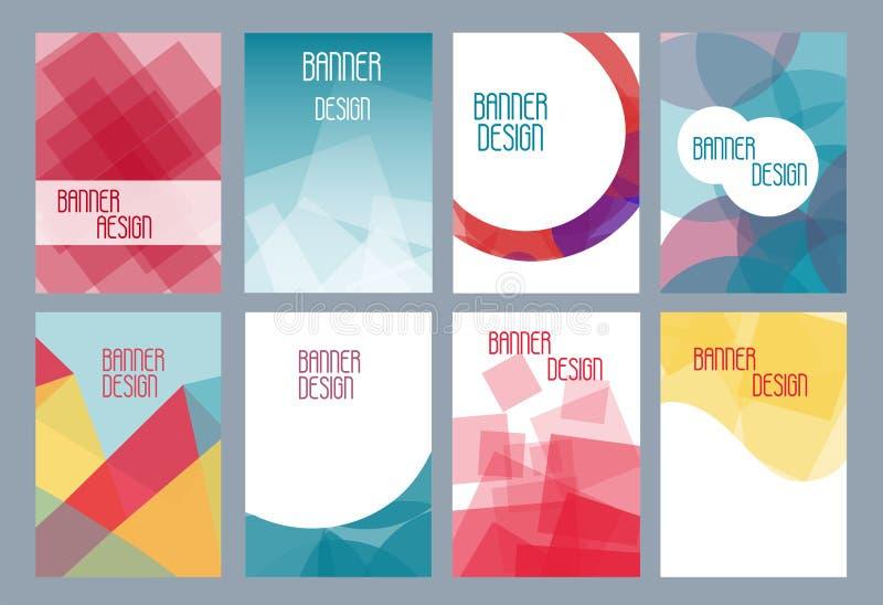 Geometriska affärsmallar för broschyr, reklamblad eller häfte Abstrakt mångfärgad låg poly bakgrund Triangulär stil royaltyfri illustrationer