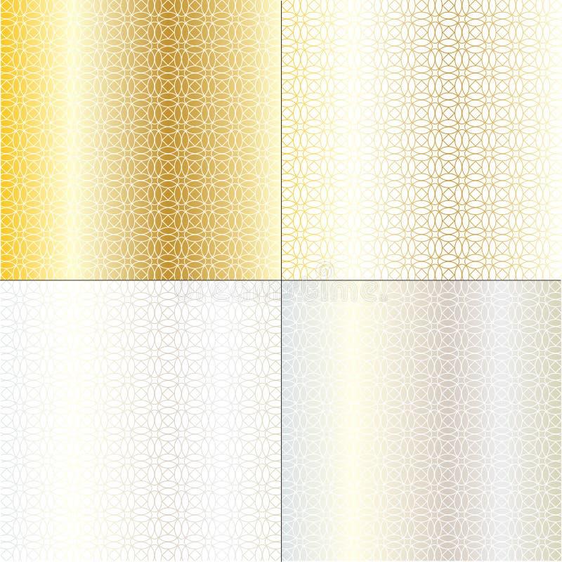 Geometriska bakgrundsmodeller för metallisk cirkel royaltyfri illustrationer