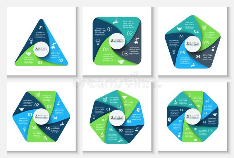 Geometriska beståndsdelar för vektor för infographic vektor illustrationer