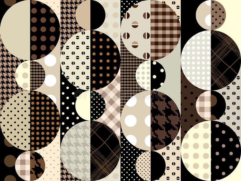 Geometriska Brown royaltyfri illustrationer