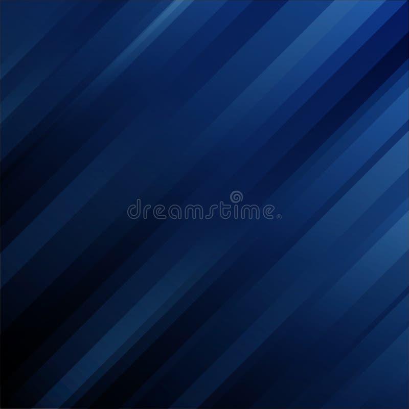 Geometriska diagonala linjer för abstrakt futuristisk mall på mörkt - blå bakgrund royaltyfri illustrationer