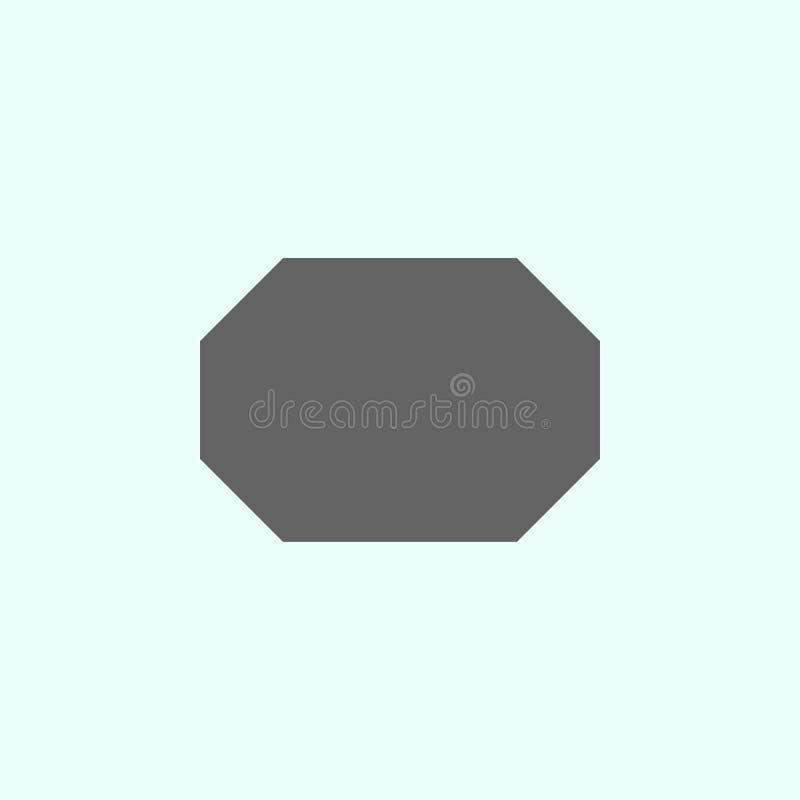 Geometriska diagram, oktogonsymbol Best?ndsdelar av geometriska diagram illustrationsymbol Tecknet och symboler kan anv?ndas f?r  royaltyfri illustrationer